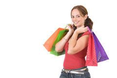 покупка девушки стоковые фото
