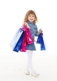 покупка девушки счастливая Стоковое Фото