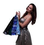 покупка девушки счастливая Стоковая Фотография