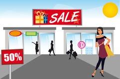 Покупка женщины Стоковое Изображение RF