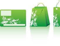 покупка зеленого цвета установленная Стоковая Фотография