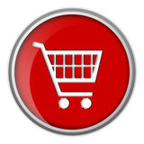 покупка иконы тележки кнопки Стоковая Фотография RF