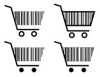 покупка иконы тележки творческая Стоковое Изображение RF
