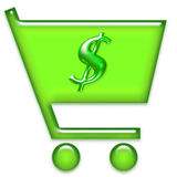 покупка иконы тележки Стоковые Фото