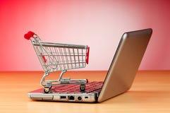 покупка интернета принципиальной схемы он-лайн стоковое фото rf