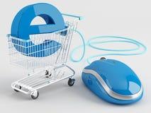 Покупка интернета Стоковая Фотография