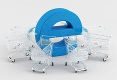 Покупка интернета Стоковые Фотографии RF