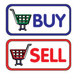Покупка и надувательство Стоковое фото RF