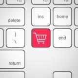 покупка клавиатуры ключа иконы тележки Стоковые Фотографии RF