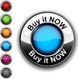 покупка кнопки теперь Стоковое Фото