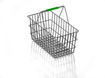 покупка корзины 3d пустая Стоковое Фото