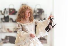 покупка магазина princess ткани Стоковые Фотографии RF