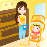 покупка мати младенца Стоковые Фотографии RF
