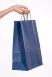 покупка мешка голубая Стоковые Изображения