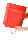 покупка мешка красная Стоковое фото RF