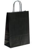 покупка мешка черная бумажная Стоковая Фотография