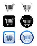 покупка пиксела иконы тележки творческая Стоковое Фото
