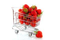 покупка плодоовощ тележки Стоковые Изображения RF