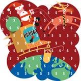 Покупка праздника он-лайн иллюстрация вектора