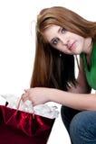 Покупка рождества девочка-подростка Стоковое Фото