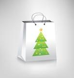 покупка рождества мешка иллюстрация вектора