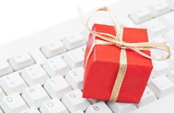 покупка рождества он-лайн Стоковое фото RF