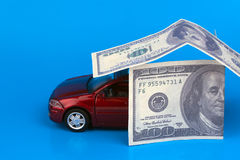 Покупка, сбывание или страхование автомобилей Стоковое Изображение RF