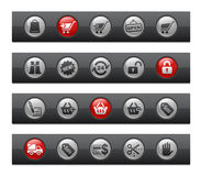 покупка серии кнопки штанги Стоковое Фото