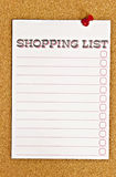 покупка списка стоковое изображение