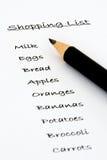 покупка списка Стоковое фото RF