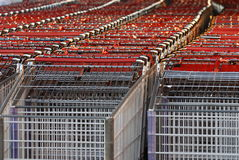 покупка тележки близкая вверх Стоковое фото RF