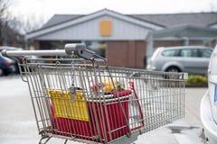 покупка тележки корзины Стоковое Фото