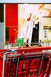 покупка тележки красная Стоковая Фотография RF