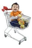 покупка тележки младенца Стоковое Фото