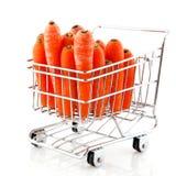 покупка тележки морковей Стоковые Изображения RF