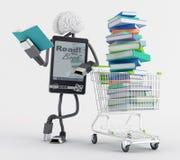 Покупка EBook Стоковое Фото