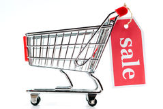 покупка v1 сбывания тележки Стоковая Фотография RF