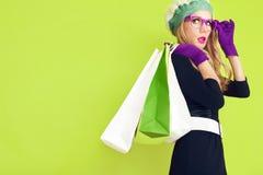 Покупки дамы осени Стоковые Фото
