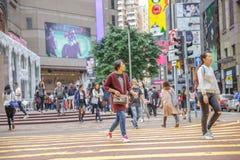 Покупки женщины Таймс площадь Стоковые Фото
