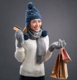 Покупки зимы Стоковые Фотографии RF