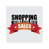 Покупки, знамя, иллюстрация вектора Стоковая Фотография RF