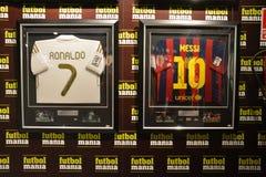 Покупки мании футбола Мадрида стоковое фото