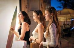 Покупки окна Стоковые Изображения RF