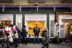 Покупки рождества в вене, Австрии Стоковая Фотография RF