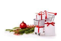 Покупки рождества и Нового Года Стоковая Фотография