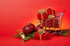 Покупки рождества и Нового Года Стоковое Изображение RF