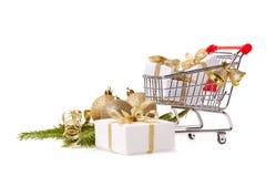 Покупки рождества и Нового Года Стоковое фото RF