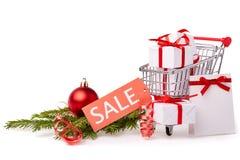 Покупки рождества и Нового Года Стоковые Фотографии RF