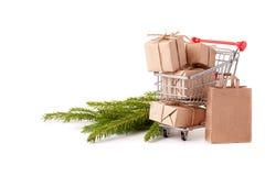 Покупки рождества и Нового Года Стоковые Изображения