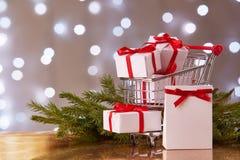 Покупки рождества и Нового Года Стоковое Фото